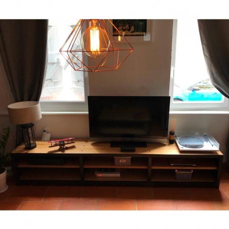 Meuble TV fer/bois
