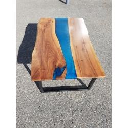 Table basse époxy / rivertable
